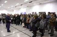 Πάτρα: Μεγάλη ανταπόκριση του κοινού στην ξενάγηση του εικαστικού Μιχάλη Μαδένη (pics)