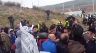 Ένταση σε σταθμό μεταφόρτωσης απορριμμάτων που θα εγκαινίαζε ο Φάμελλος (video)