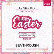Happy Easter at Sea Through