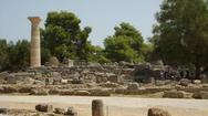 Αρχαία Ολυμπία: Αναστηλώθηκε σπάνιος κίονας