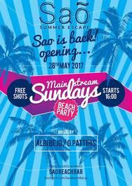 Opening - Mainstream Sundays at Sao Beach Bar