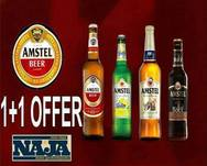 Amstel 1+1 Offer at More Steps Naja