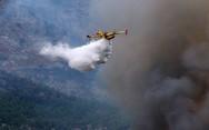 Μεγάλη φωτιά σε ορεινή περιοχή της Κέρκυρας