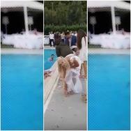 Γάμος σε... απόγνωση στο Ρίο! Νύφη, γαμπρός και Βελισσάρης κατέληξαν με τα ρούχα στην πισίνα!