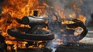 Πάτρα - Φωτιά σε μηχανάκι στην Εγλυκάδα