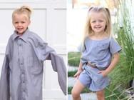 Μαμά φτιάχνει φορέματα για τις κόρες της, χρησιμοποιώντας παλιά πουκάμισα! (pics)