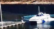 Βίντεο: Η πρόσκρουση του SEA JET 2 στο λιμάνι της Σίφνου