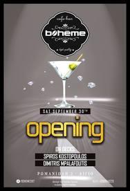 Opening at Boheme Cafe Bar