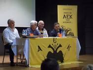 Μεγάλη συγκίνηση και μοναδικές στιγμές στην παρουσίαση του βιβλίου 'Όλες οι ΑΕΚ του κόσμου' στην Πάτρα