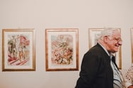 "O σπουδαίος Franco Murer στα εγκαίνια της έκθεσής του, ""Ο Θερβάντες στη Ναυμαχία της Ναυπάκτου""!"