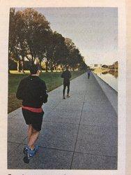 Ο Αλέξης Τσίπρας βγήκε για τρέξιμο στο Μνημείο Λίνκολν