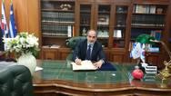Ο Απόστολος Κατσιφάρας υπέγραψε τη διακήρυξη της Ολυμπιακής Εκεχειρίας