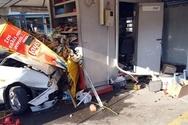 Πάτρα: Όχημα έφυγε από την πορεία του και «καρφώθηκε» πάνω σε περίπτερο