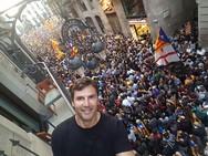 Ο Πατρινός που βρέθηκε στους εορτασμούς της Καταλονίας για την ανεξαρτητοποίση της