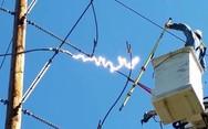 Παρολίγον σοκαριστικό ατύχημα με τεχνικό γραμμών ηλεκτρικής ενέργειας (video)