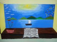 Πάτρα: Ο δάσκαλος που ζωγράφισε εθελοντικά την βιβλιοθήκη του σχολείου του (pics)