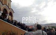 Δυτ. Ελλάδα: Θρήνος και οδύνη στην κηδεία ενός εκ των θυμάτων της πλημμύρας στη Μάνδρα