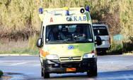 Ασθενοφόρο στην Πρέβεζα συγκρούστηκε με δυο μοσχάρια