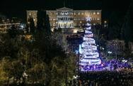 Φωταγωγήθηκε το Χριστουγεννιάτικο δέντρο της Αθήνας (φωτο)