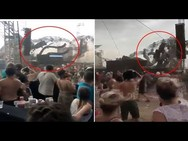 Βίντεο σοκ: DJ σκοτώθηκε όταν κατέρρευσε η σκηνή την ώρα που έπαιζε μουσική!
