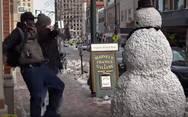 Πόσο τρομακτικός μπορεί να γίνει ένας χιονάνθρωπος; (video)