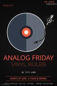 Analog Friday Vinyl Rules at Bb King