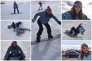 Η Ευρυδίκη Βαλαβάνη μαθαίνει snowboard στο Χιονοδρομικό Κέντρο Καλαβρύτων! (φωτο+video)