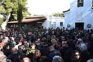 'Καλό ταξίδι Τζιμάκο' - Πλήθος κόσμου στην κηδεία του Πανούση (φωτο)