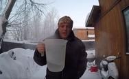 Τι θα συμβεί αν ρίξεις νερό στον αέρα όταν έχει -46°C (video)