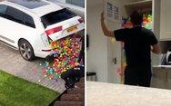 Αυτός ο άνδρας δε θέλει να ξαναδεί στη ζωή του άλλα πολύχρωμα μπαλάκια (video)