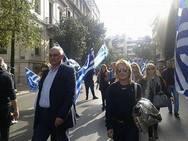 Στο συλλαλητήριο, μαζί με πολλές δεκάδες Αχαιών, ο Γιάννης Λαϊνιώτης! (φωτο)