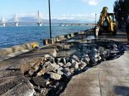 Πάτρα: Ξεκίνησαν οι εργασίες στους παραλιακούς δρόμους Ρίου και Ακταίου (pics)