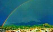 Το ουράνιο τόξο στόλισε για ακόμη μια φορά τον ουρανό της Πάτρας!