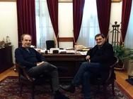 Πάτρα - Ο Νίκος Οικονομόπουλος συναντήθηκε με τον Κώστα Πελετίδη για το κυκλοφοριακό!