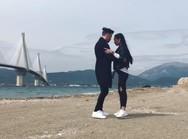 Το tango της κορυφαίας Sagdiana Xamzina με φόντο την Γέφυρα του Ρίου Αντιρρίου (video)