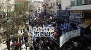 Πύργος: Μεγάλη συμμετοχή στο συλλαλητήριο για την Μακεδονία (pics+video)