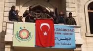 Σήκωσαν την τουρκική σημαία στην πόλη Αφρίν (video)