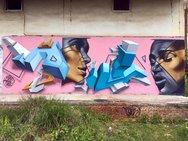 Το εντυπωσιακό γκράφιτι που τραβά την προσοχή, στον Καστελόκαμπο της Πάτρας! (video)
