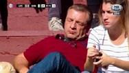 Οπαδός κοιμήθηκε στις εξέδρες την ώρα του ντέρμπι (video)