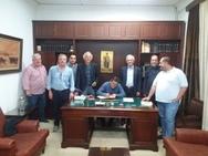 Πάτρα - Ο Κώστας Πελετίδης συναντήθηκε με τα μέλη του Δ.Σ. του ΕΕΣΠ!