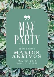 May Day Party with Marios Akrivos at Centro Porto