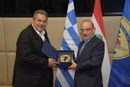 Ο Πάνος Καμμένος συναντήθηκε με τον Υπουργό Άμυνας του Λιβάνου, Yacoub Sarraf (φωτο)
