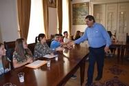 Πάτρα: Ο Δήμαρχος παραχώρησε συνέντευξη στους μαθητές του 10ου Γυμνασίου (pics)