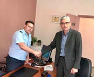 Αχαΐα: Επίσκεψη του Άγγελου Τσιγκρή στο Αστυνομικό Τμήμα Ερυμάνθου