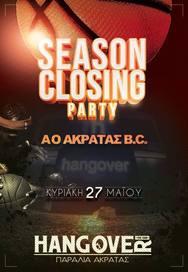 Season Closing Party at Hangover Club