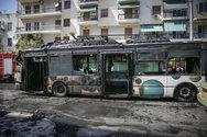 Φωτιά ξέσπασε σε λεωφορείο του ΟΑΣΑ στα Κάτω Πατήσια (φωτο)