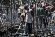 Ηλεία - Η επόμενη μέρα στα αποκαΐδια της παραγκούπολης της Νέας Μανωλάδας