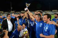 Πάτρα: Ο Δήμαρχος έδωσε το παρών στον φιλικό αγώνα της Εθνικής με την Ισπανία (pics)
