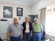 Πάτρα: Επίσκεψη Σίας Αναγνωστοπούλου στο Άσυλο Ανιάτων