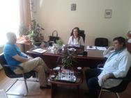 Πάτρα: O Γιώργος Μαυραγάνης επισκέφτηκε το Καραμανδάνειο Νοσοκομείο